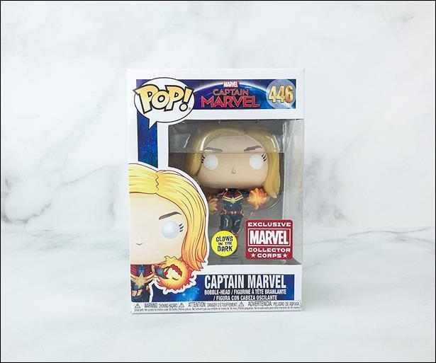 POP! Marvel (Unmasked Flying) Captain Marvel by Funko