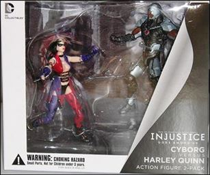 Injustice: Gods Among Us (2-Packs) Cyborg vs Harley Quinn