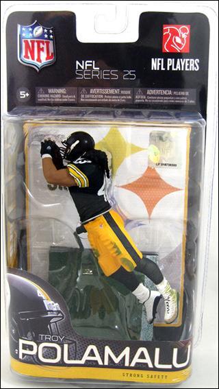 Toys For Troy : Nfl troy polamalu black jersey jan action figure