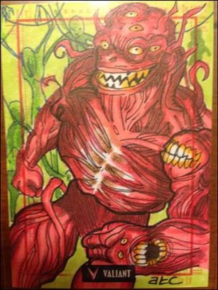 2013 Valiant Comics Preview Trading Card Set (Sketch Card Subset) AC-08-A