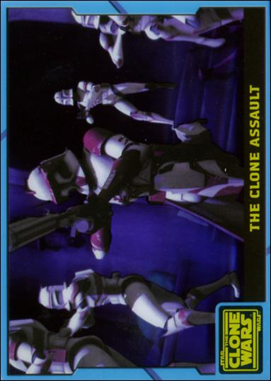 Star Wars: The Clone Wars (Blue Animation Cel Subset) nn3-A by Topps