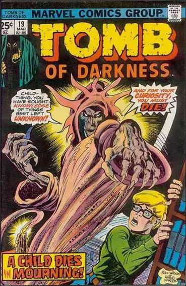 Tomb of Darkness 19-A by Marvel