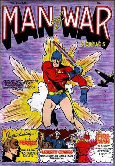 Man of War (1941) 2-A by Centaur Publications Inc.