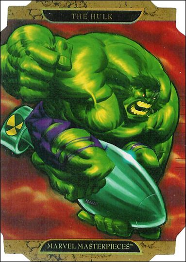 2008 Marvel Masterpieces: Series 2 (Movie Die-Cut Subset) HULK A-A by Upper Deck