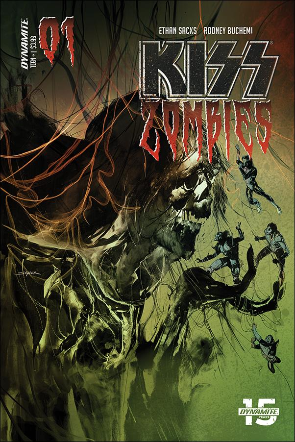 Kiss Zombies 1-B by Dynamite Entertainment