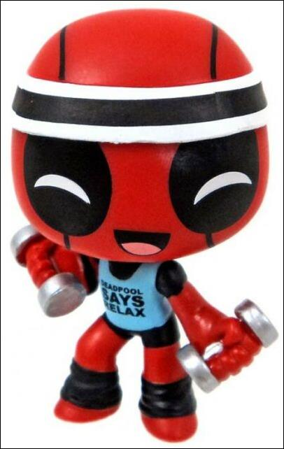 Deadpool Mystery Minis Workout  1/24 by Funko