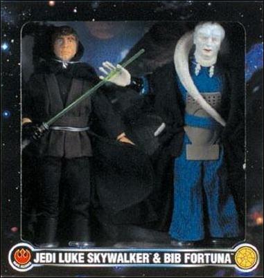 "Star Wars 12 "" FAO Schwarz Exclusive 2-Packs Jedi Luke Skywalker & Bib Fortuna by Kenner"