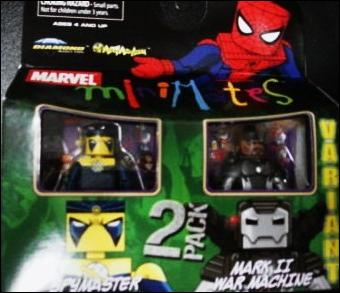 Marvel Minimates Spymaster and Mark II War Machine by Diamond Select