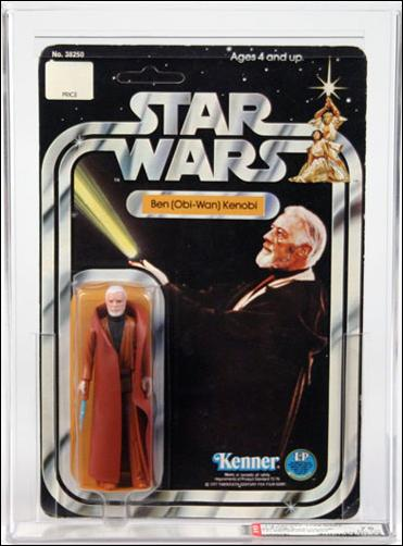 "Star Wars 3 3/4"" Basic Action Figures (Vintage) Ben (Obi-Wan) Kenobi (SW 12 Bk Dbl Telescoping) by Kenner"
