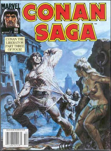 Conan Saga 55-A by Marvel