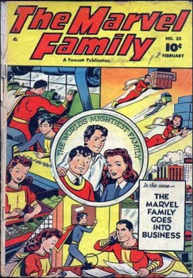 Marvel Family 32-A by Fawcett