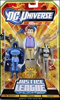 DC Universe: Justice League Unlimited - Fan Collection (3-Packs) Dr. Destiny - Toyman - Firefly by Mattel