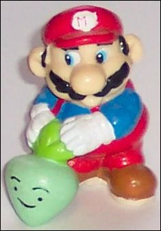 Nintendo Figurines Mario w/vegetable (Black Hair) by Applause