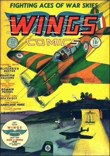 Wings Comics (1940) 1-A by Fiction House Magazines
