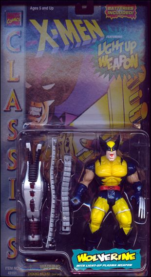 X-Men (Classics Light Up Weapons Series) Wolverine (Yellow/Black Costume & X-Men Wolverine (Yellow/Black Costume) Jan 1996 Action Figure by ...