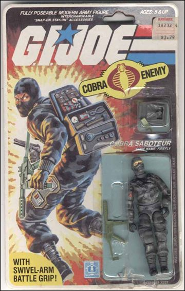 "G.I. Joe: A Real American Hero 3 3/4"" Basic Action Figures Firefly (Cobra Saboteur) by Hasbro"