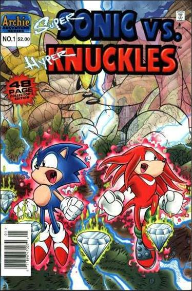 Super Sonic vs Hyper Knuckles 1-A by Archie