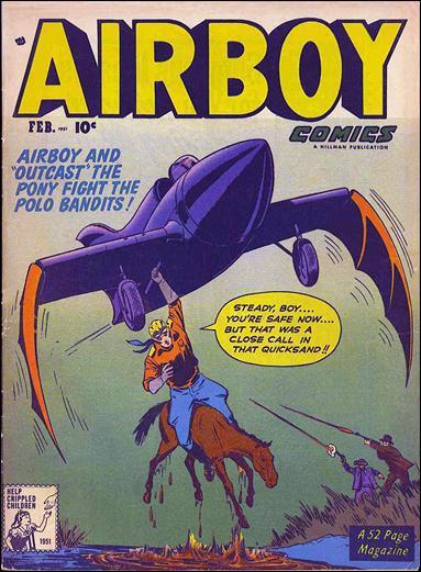 Airboy Comics (1951) 1-A by Hillman
