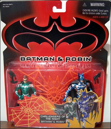 Batman and Robin (Movie) Action Figure 2-Packs Batman and Robin (Challengers of the Night) by Kenner
