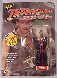 "Indiana Jones and the Temple of Doom 5"" Action Figures Mola Ram by LJN"