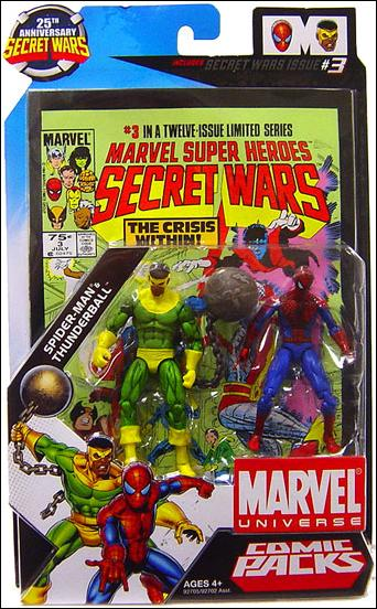 Marvel Universe: Secret Wars (Comic-Packs) Spider-Man and Thunderball by Hasbro