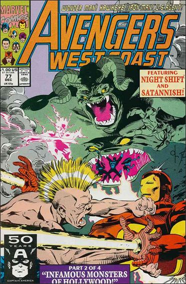 Avengers West Coast 77-A by Marvel