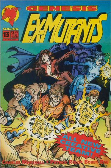 Ex-Mutants (1992) 13-A by Malibu