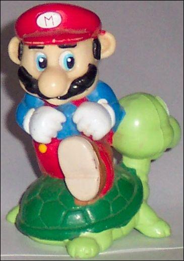 Nintendo Figurines Mario w/turtle (Black Hair) by Applause