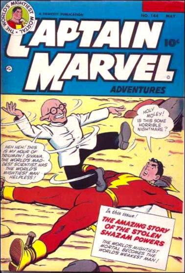 Captain Marvel Adventures 144-A by Fawcett