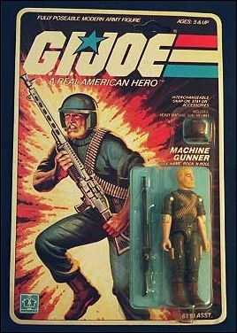G.I. Joe: A Real American Hero 3 3/4&quot; Basic Action Figures Rock 'N Roll (Machine Gunner)  by Hasbro