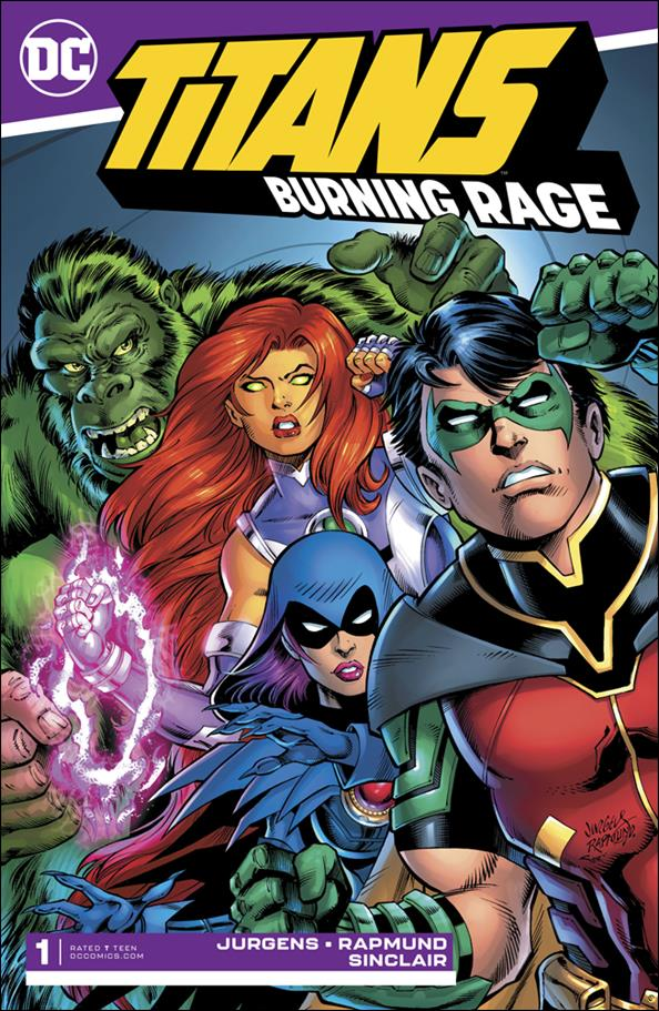 Titans: Burning Rage 1-A by DC