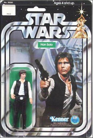 "Star Wars 3 3/4"" Basic Action Figures (Vintage) Han Solo (SW 12 Back Large Head) by Kenner"