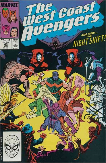 West Coast Avengers (1985) 40-A by Marvel