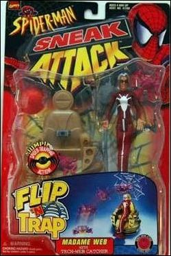 Spider-Man: Sneak Attack (Flip 'n Trap) Madame Web by Toy Biz