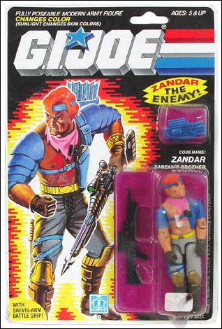 "G.I. Joe: A Real American Hero 3 3/4"" Basic Action Figures Zandar (Zartan's Brother) by Hasbro"