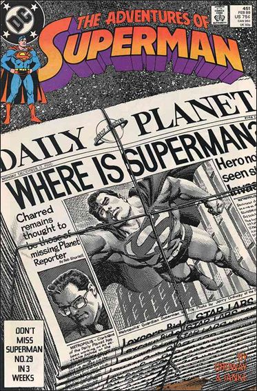 Adventures of Superman (1987) 451-A by DC