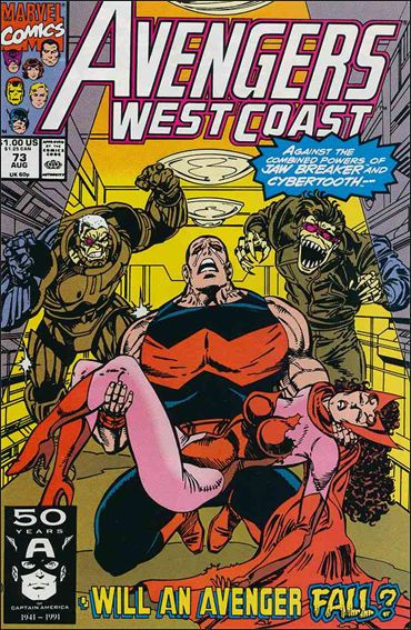 Avengers West Coast 73-A by Marvel
