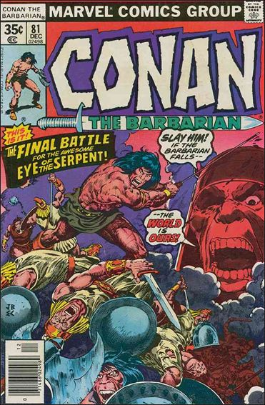 Conan the Barbarian (1970) 81-A by Marvel