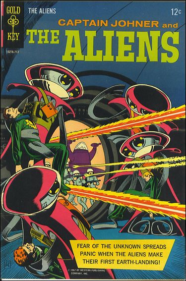 Captain Johner and the Aliens 1-A by Gold Key