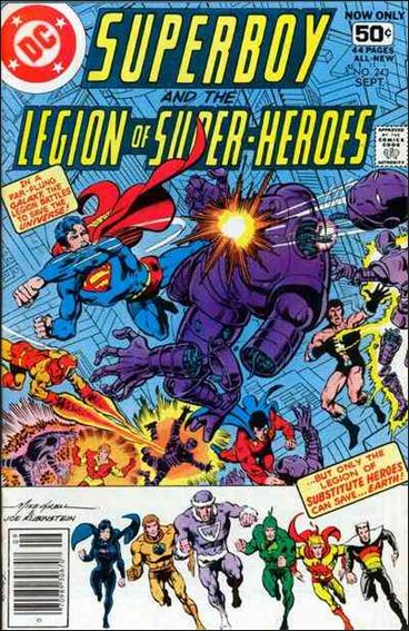 Superboy and the Legion of Super-Heroes 243-A by DC