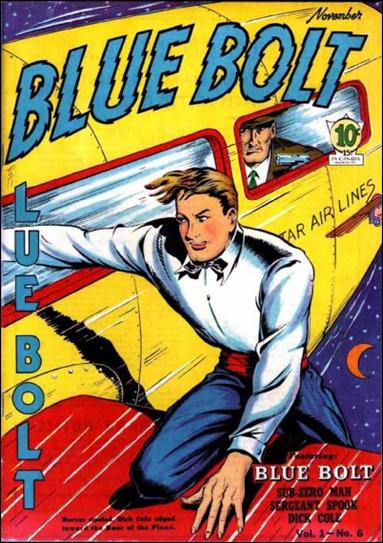 Blue Bolt (1940) 6-A by Novelty Press