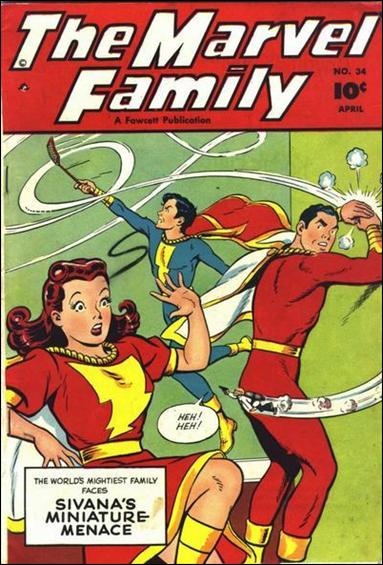Marvel Family 34-A by Fawcett
