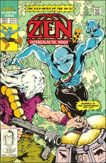 Zen Intergalactic Ninja (1992/09) 2-A by Archie