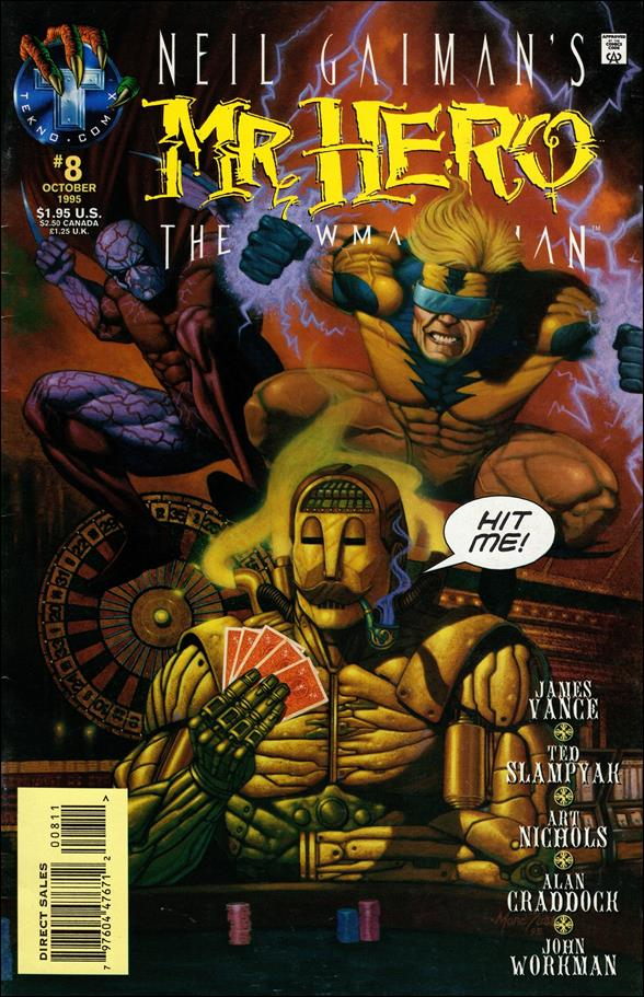 Neil Gaiman's Mr. Hero: The Newmatic Man (1995) 8-A by Tekno•Comix