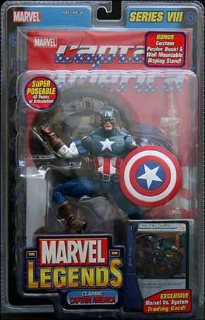 Marvel Legends (Series 8) Classic Captain America (Blue Pants - Wings)