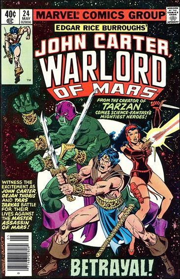 John Carter, Warlord of Mars 24-A by Marvel