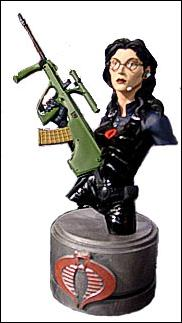 G.I. Joe Mini Resin Busts Baroness (Black) 1/2880 by Palisades Toys