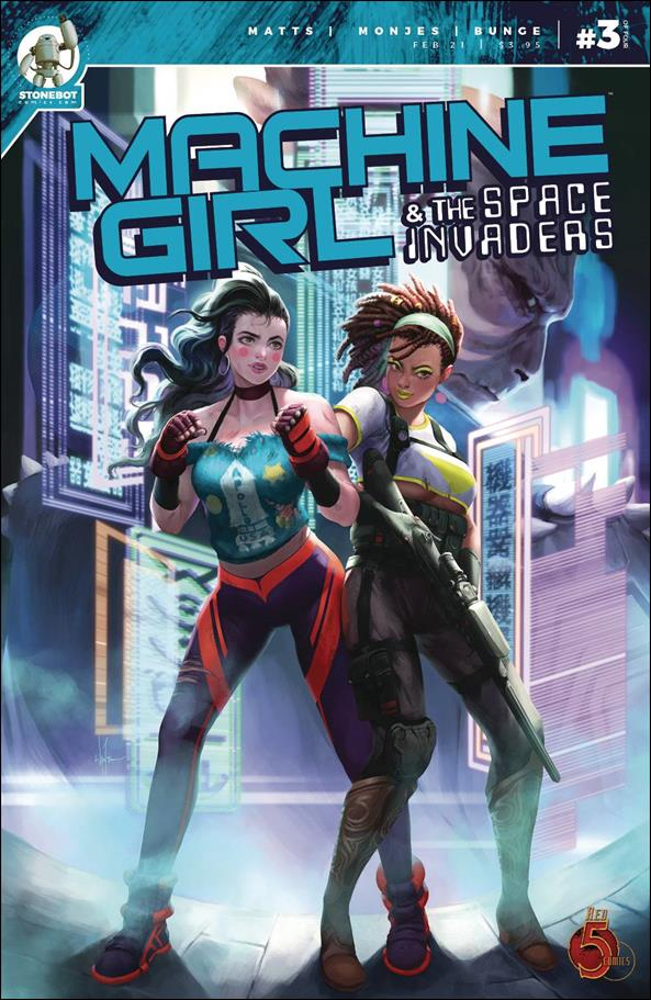 Machine Girl & the Space Invaders 3-A by Stonebot Comics