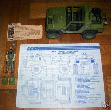 "G.I. Joe: A Real American Hero 3 3/4"" Basic Vehicles and Playsets VAMP (Multi-Purpose Attack Vehicle) by Hasbro"