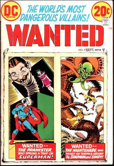 Wanted, the World's Most Dangerous Villains 9-A by DC
